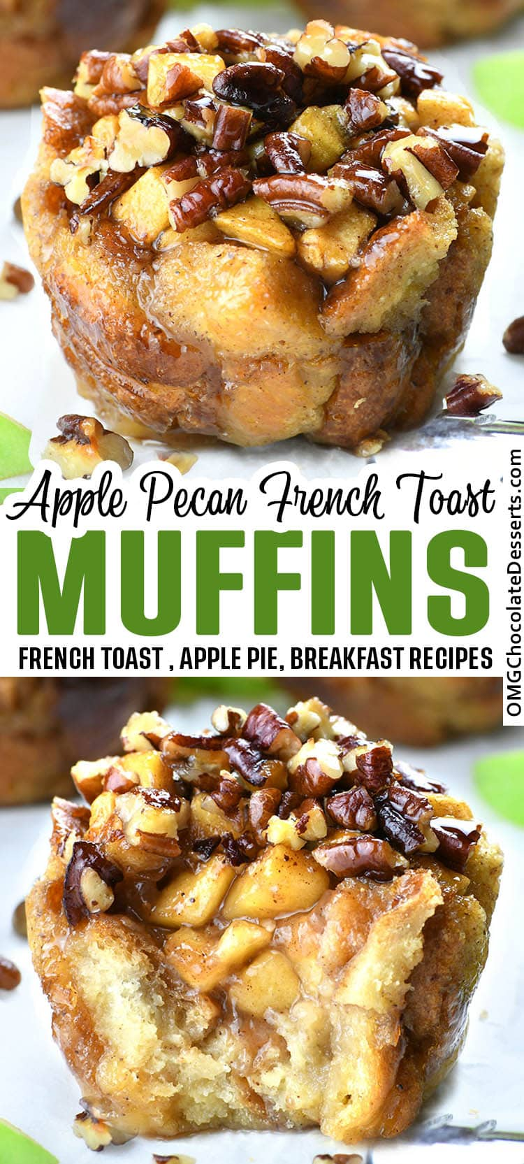 Apple Pecan French Toast Cups Omg Chocolate Desserts