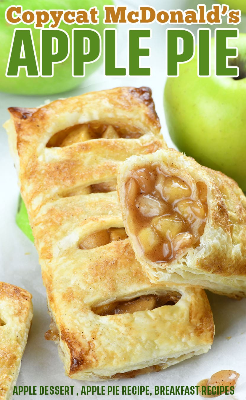 hese homemade versions of famous McDonald's apple pies are absolutely irresistible.