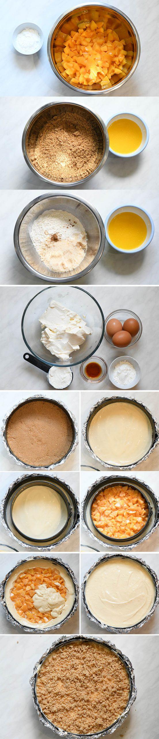 Peach Cheesecake Instructions