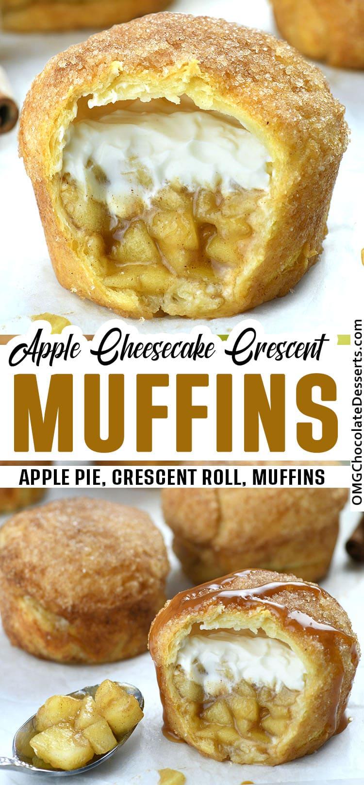 Apple Pie Crescent Muffins
