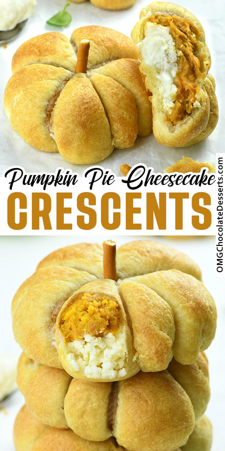Crescent Pumpkins with Cream Cheese and Pumpkin Pie Filling