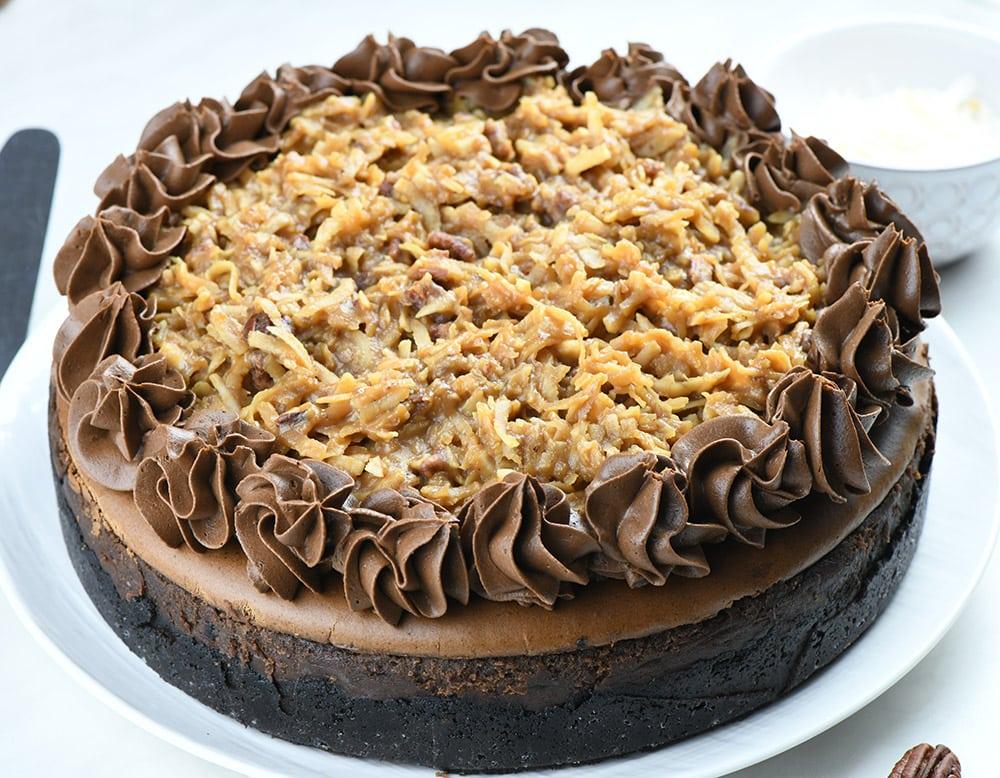 German Chocolate Cheesecake whole cake