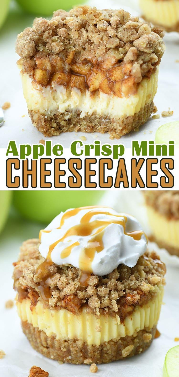 Apple Crisp Mini Cheesecakes